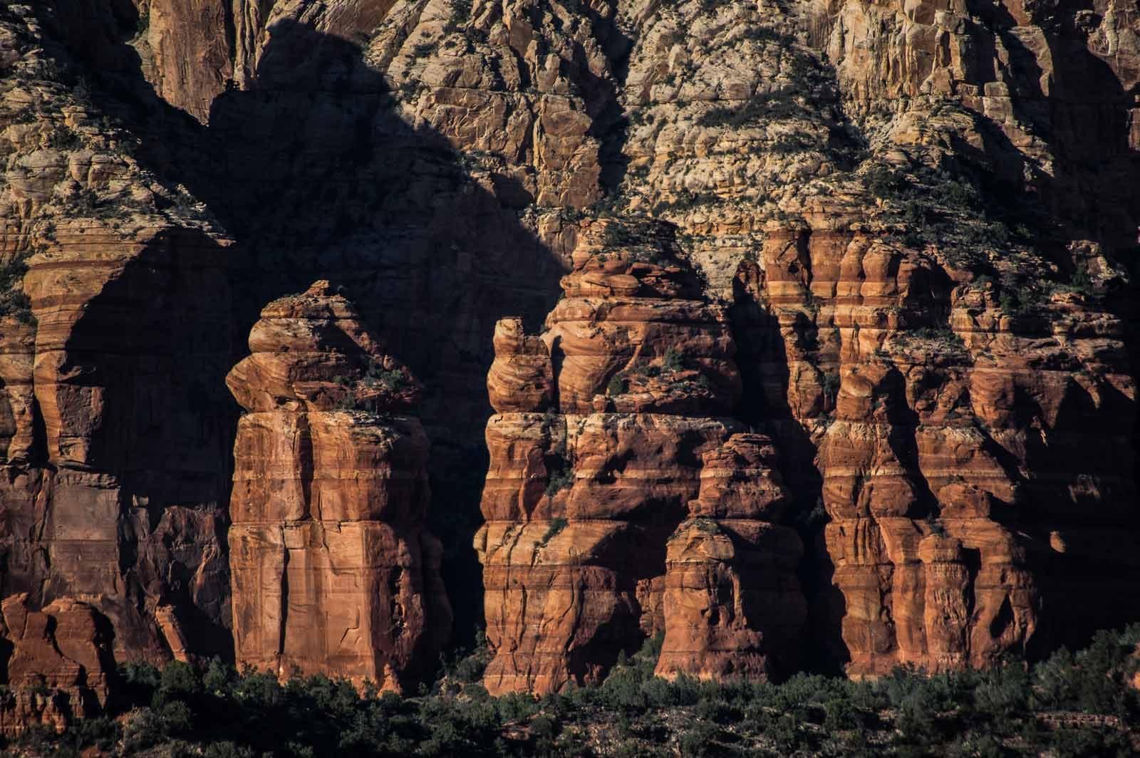 Pared de rocas sedimentarias