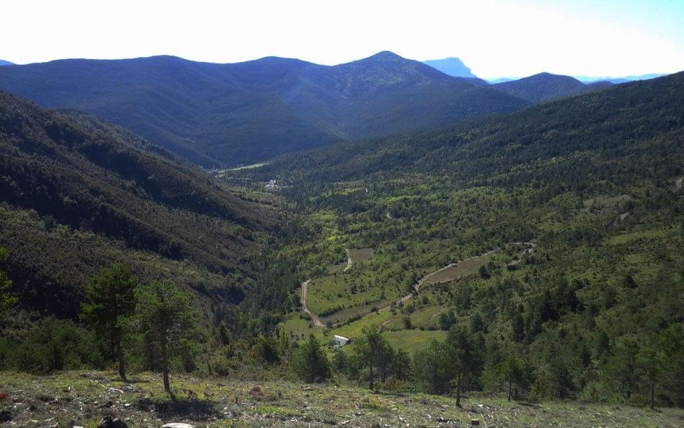 Cuenca de Arnás en el Valle de Borau